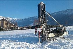 Etude géotechnique dans la neige